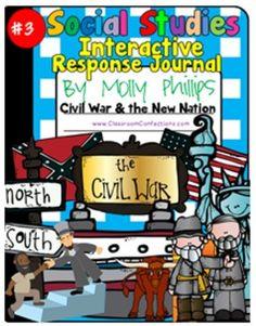 CIVIL WAR & More- SS INTERACTIVE NOTEBOOK #3 {Passages & A