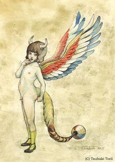 鳥居椿 「blenginⅡ」 2011 水彩/紙 個人蔵