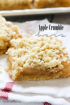 If you're looking for a quick and easy dessert, look no further. Apple Crumble Bars have just 4 ingredients and 5 minutes of prep time.