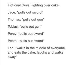 Okay this has to be blue cake otherwise I don't think Percy would care.<<and leo would just eat the cake for the sake of being awesome