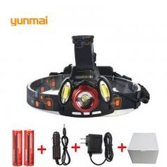 [ 51% OFF ] 8000 Lumen Xm-L T6+2Cob Led Rechargeable Head Torch 4Mode Headlamp Flashlight Head Light+2X 18650 Batteries Us/eu/au/uk Charger