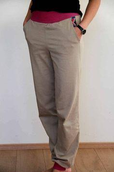 Střih na dámské domácí kalhoty (tepláky) do pasu Lounge Pants, Khaki Pants, Trousers, Couture, Sewing, Clothes, Crafts, Art, Fashion