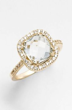 KALAN by Suzanne Kalan Cushion Stone Sapphire Bezel Ring available at #Nordstrom want want want!!