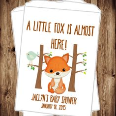 Fox Baby Shower - Woodland Baby Shower - A Little Fox is Almost Here - Candy Buffet - Baby Shower Favors - Favor Bags