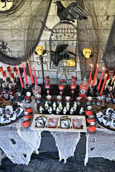Halloween party dessert table!  See more party ideas at CatchMyParty.com!