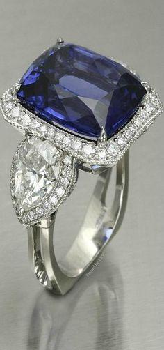Plata De Ley Tanzanita y Diamante Anillo de 2.65ct J Talla 5 925 Caja Libre