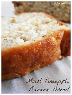 Jam Hands: Moist Pineapple Banana Bread Use gf flour and coconut sugar