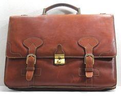 Mens Brown Leather Bag Vintage Leather Bag by RetroVintagePlanet