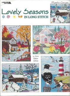 Cover Only Lovely Seasons In Long Stitch Plastic by KnitKnacksCreations LA-3348.. AA-832650..