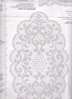 Billedresultat for oval filet crochet Filet Crochet Charts, Crochet Cross, Crochet Round, Crochet Home, Crochet Stitches, Crochet Tablecloth Pattern, Crochet Doilies, Crochet Toilet Roll Cover, Crochet Designs