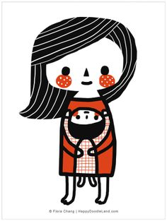 """Mother's Love, 12"""" x 16"""" Print by flora chang 