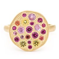 Sapphire Sunburst Ring. First saw Anne Sportun's designs in the Sundance Catalog forever ago, and never forgot her name.