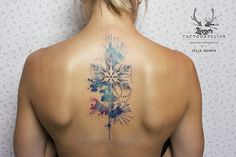 Snowflake Watercolor Tattoo