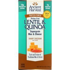 JUST IN: Ancient Harvest M.... SHOP NOW! http://www.zapova.com/products/ancient-harvest-mac-and-cheese-supergrain-lentil-and-quinoa-sharp-cheddar-with-shells-gluten-free-6-5-oz-case-of-6?utm_campaign=social_autopilot&utm_source=pin&utm_medium=pin