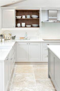 Big Kitchen Trends In 2016 - Interior Decor and Designing Grey Shaker Kitchen, Shaker Style Kitchen Cabinets, Shaker Style Kitchens, New Kitchen, Compact Kitchen, Howdens Kitchens, Grey Kitchens, Interior Exterior, Kitchen Interior