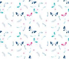 Doux papillons fabric by un_temps_de_coton on Spoonflower - custom fabric