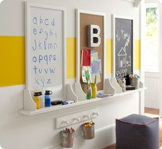 Kids Art Boards basement idea?? need something for floor to protect carpet?? Ikea rug/mats??