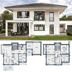 , Modern Luxury Villa House Plan & Interior Architecture Design Ideas - City Life 250 , Modern Luxury Villa Architecture Design House Plan Blueprint City Life 250 - Dream Home Ideas & Inspiration Photography with House Plans Layout Drawin. Modern Architecture House, Architectural Design House Plans, Interior Architecture, Interior Modern, Craftsman Interior, Modern Home Exteriors, Architecture Plan, Dream House Plans, Modern House Plans