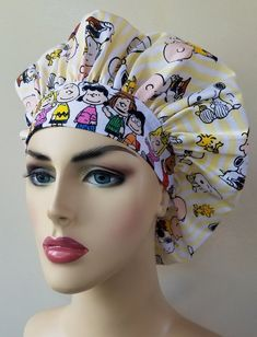 Surgical Caps, Scrub Caps, Caps For Women, New Print, Hat Making, Back Home, Charlie Brown, Breast Cancer, Scrubs