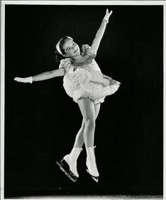 Janet Champion performing the Mazurka Jump, a standard in old-time figure skating competition.