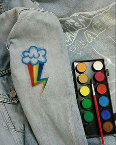 Watercolor illustartion on my jacket