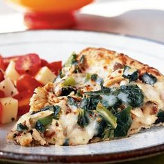 Collard greens and leftover turkey meld beautifully with commercial Alfredo sauce and nutty fontina cheese, resulting in an easy yet...