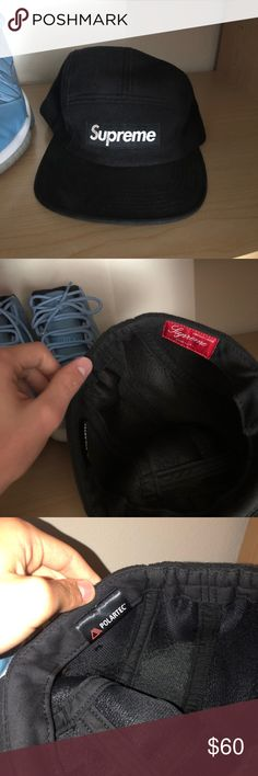 cd5b42976bfdc Supreme hat Black supreme hat for sale Supreme Accessories Hats