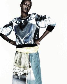 """""""Pop Smart"""" Ajak Deng by Marc De Groot for Vogue Netherlands September 2013"""
