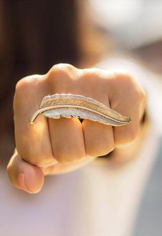 Feather Two Finger Ring £7.00