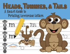 Playapy's HEADS, TUMMIES, & TAILS: A Smart Guide to Printing Lowercase Letters   *Created by a Pediatric Occupational Therapist   * A 64-page workbook including coloring pages and activity sheets   * Letters are practiced according to alignment in groups called Heads, Tummies, and Tails.   * Additional pages for children with small print