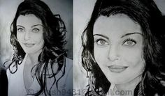 Aishwarya rai - Sketching by Nitesh Rajput in My Sketches at touchtalent 18929
