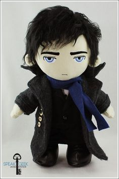 Sherlock doll made by SpeakGeekAndEnter. She makes the best stuff. She makes me sad I even try to make dolls.: