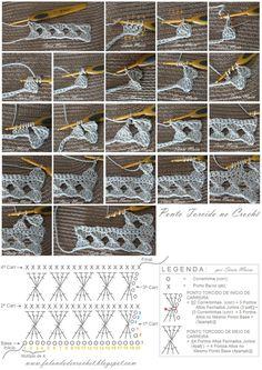 FALANDO DE CROCHET: PONTO DE CROCHE TORCIDO (Crochet Twist Stitch)                                                                                                                                                     Mais