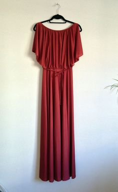 Go Greek!  layer over a tonally matched shell for some serious elegant fun factor. Great for mom of the BarMitzva when you need a gown without the wedding look. Vintage 70s Disco Grecian Maxi Dress