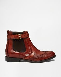 Image 2 of Carvela Slow Tan Leather Brogue Flat Ankle Boots