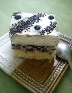 Čučoriedkový smotanovo-pudingový zákusok Sweet Desserts, Tiramisu, Brownies, Ethnic Recipes, Cake Brownies, Tiramisu Cake