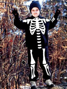 kid halloween costumes, costume ideas, halloween crafts, country living magazine, craft projects, skeleton costum, costum idea, halloweencostum, homemade halloween costumes