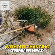 Tired of your trimmer being too weak to cut tough weeds? Replace your trimmer head with the Break Proof Steel Trimmer Blade that slices through grass, branches, weeds super FAST! Yard Landscaping, Backyard Patio, Backyard Creations, Diy Garden Fountains, New Technology Gadgets, Diy Home Cleaning, Diy Home Repair, Useful Life Hacks, Diy Home Crafts