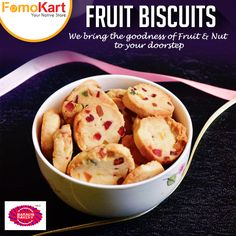 Relish the taste of traditional and delicious #FruitBiscuits from #Hyderabad's #KarachiBakery.  Order at www.fomokart.com and get the biscuits freshly delivered