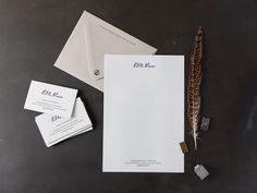 Petite Alma business cards and letterhead