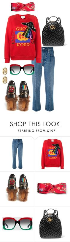 """""""Untitled #278"""" by iamchictrend on Polyvore featuring Levi's and Gucci"""
