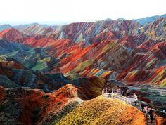 Beautiful Landscape photography : Zhangye Danxia Landform Gansu China   25 Insanely Breathtaking Places to Visit Before You Die