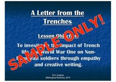 This lesson considers the impact of World War One on soldiers from the British Empire.  Focus on the west indies.  Students write a letter home from the trenches and then censor it as the army would have done.