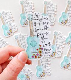 Homemade Stickers, Diy Stickers, Sticker Ideas, Kawaii Stickers, Psalm 150, Ipad Art, Bible Art, Bible Verses, Bullet Journal Ideas Pages
