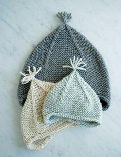 Garter Ear Flap Hat | The Purl Bee