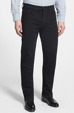 $169, Black Jeans: Joe's Classic Straight Leg Jeans Jet Black 28. Sold by Nordstrom. Click for more info: http://lookastic.com/men/shop_items/146449/redirect