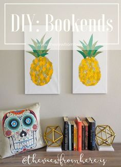 DIY: Bookends || http://theviewfromhere.is