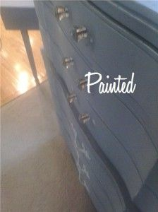 French Provincial furniture - painted grey dresser