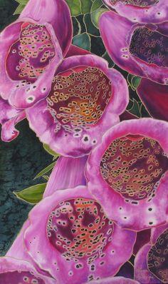 Foxglove-Alena Vyborna. Silk Painting