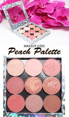 Makeup Geek Peach Palette. Looking for a true peach eyeshadow palette? This is the best!